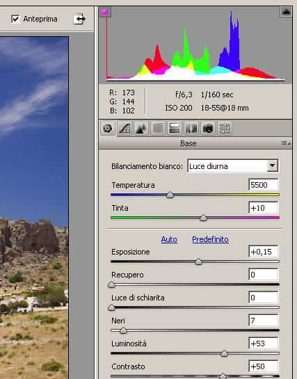 cameraraw setting