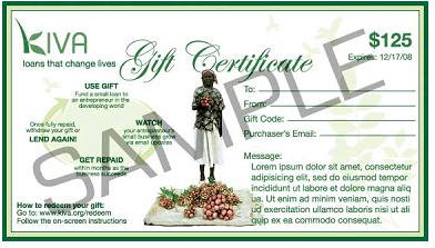 kiva gift certificate