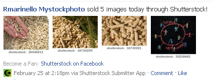 shutterstock facebook application