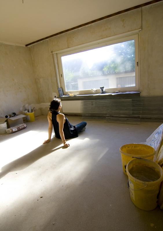 woman and home renovation
