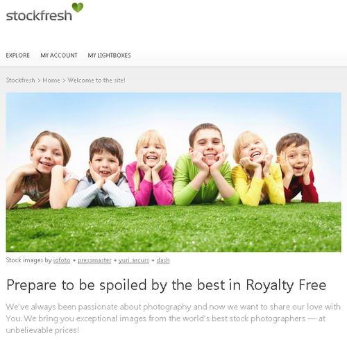 stockfresh home page