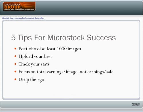 tyler 5 tips microstock success
