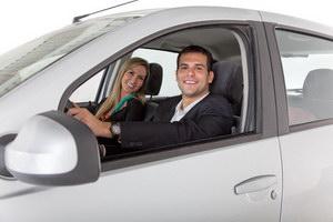 Couple with a car