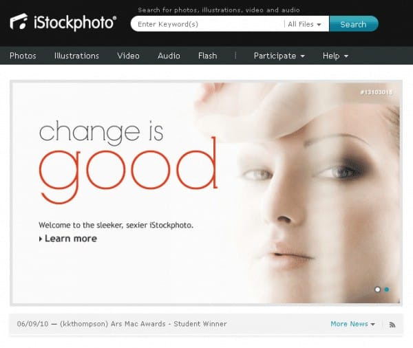 istockphoto new homepage F5