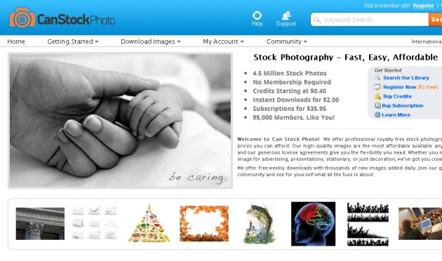 canstockphoto new homepage