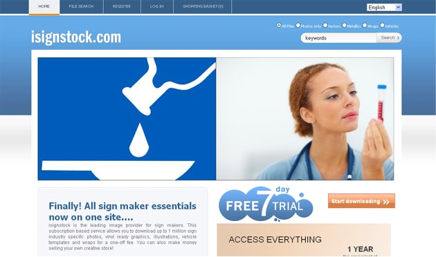 isignstock homepage