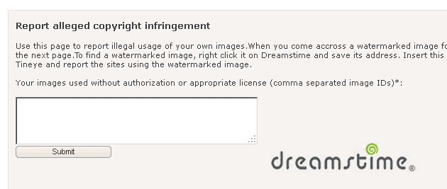 dreamstime report copyright infringement