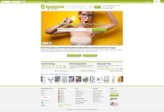 Depositphotos website update