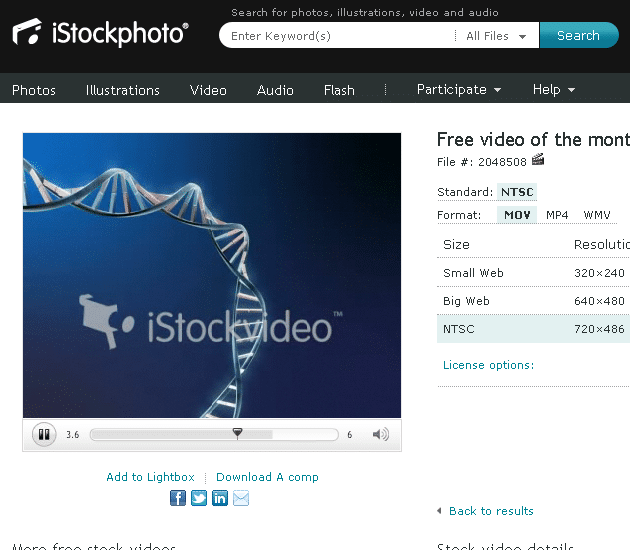 istock Free video of the month: DNA animation
