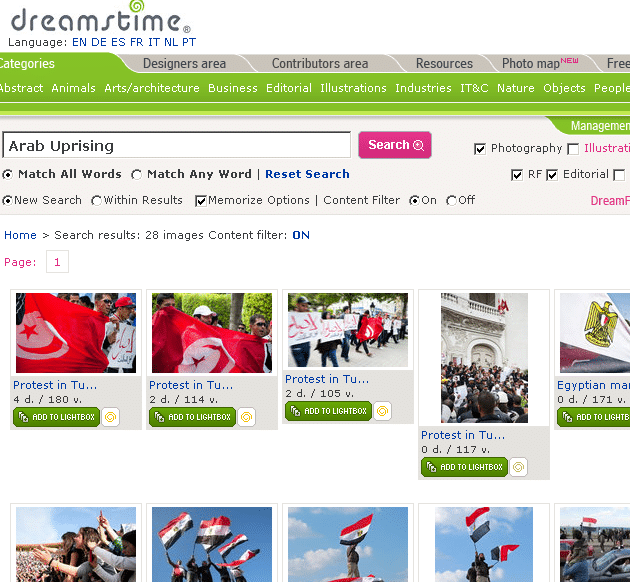 dreamstime arab uprising
