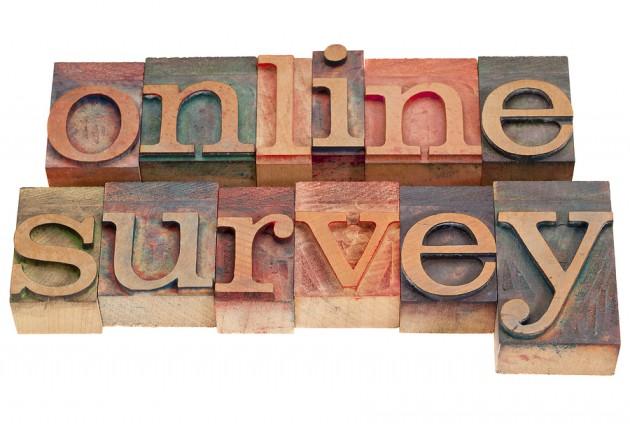 bigstock Online Survey - Letterpress Type
