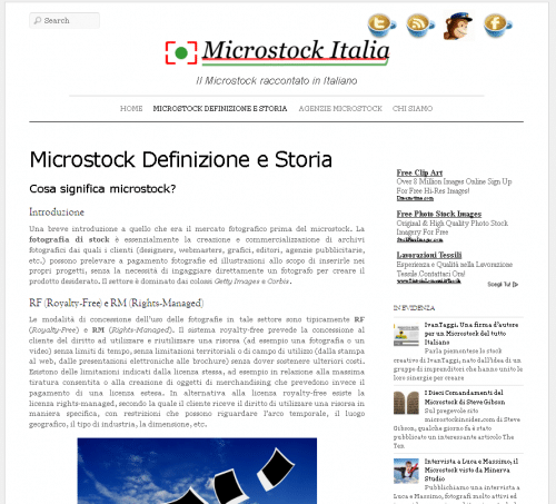 Microstock Italia screenshot