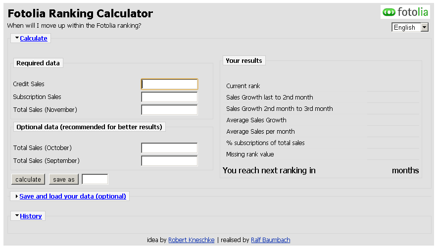 Free Fotolia Ranking Calculator by Robert Kneschke