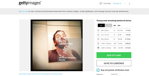 EyeEm Image for License at Getty Images