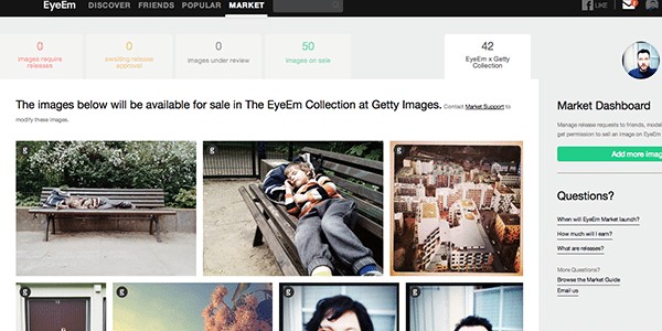 EyeEm Images Accepted For Sale