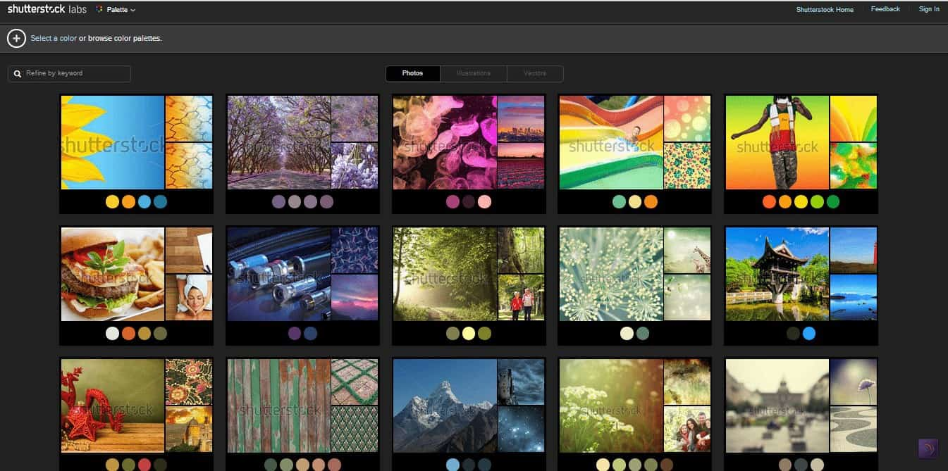 Palette Image Search