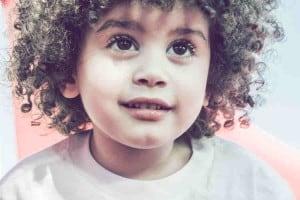 Wilson Araujo   Cute, curly-haired Brazilian boy close-up